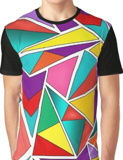A colorful, abstract pattern polygons .  Graphic T-Shirt