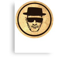 Breaking Bad Walter Coasters retro style image Canvas Print