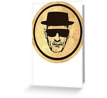 Breaking Bad Walter Coasters retro style image Greeting Card