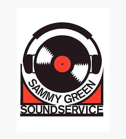 Vintage Sounsystem Sammy Green Decal Photographic Print