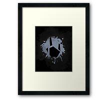 Prime Freeze Beam (Splatter Black) Framed Print