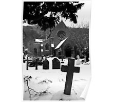 Church & Gravestones Poster
