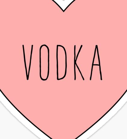 I Love Vodka Heart Black Sticker
