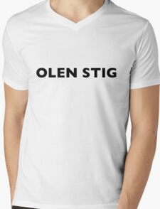 I AM THE STIG - Finnish Black Writing Mens V-Neck T-Shirt