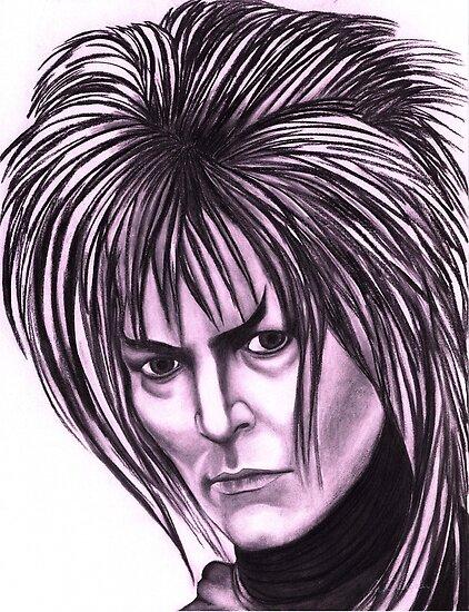 David Bowie celebrity portrait by Margaret Sanderson