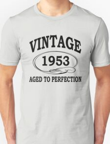 Vintage 1953 Aged To Perfection T-Shirt