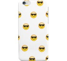 Sunglasses emoji pattern iPhone Case/Skin