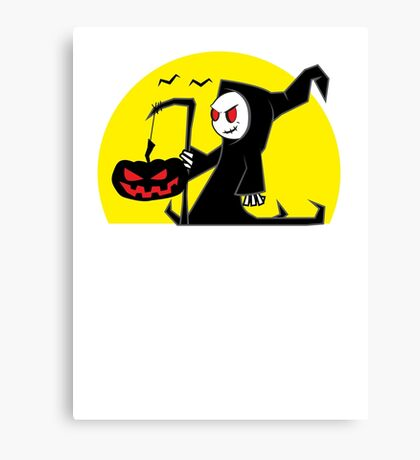 Halloween Reaper Canvas Print