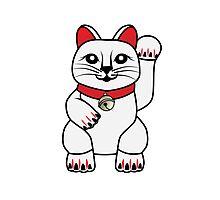 Maneki Neko lucky cat Photographic Print