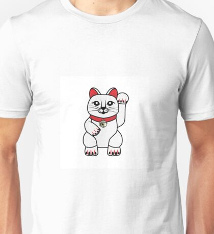 Maneki Neko lucky cat Unisex T-Shirt