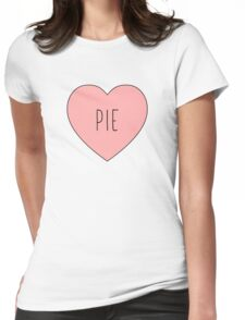 I Love Pie Heart White Womens Fitted T-Shirt
