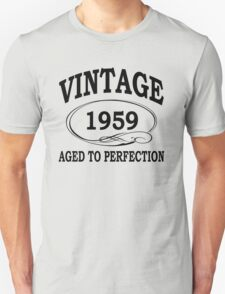 Vintage 1959 Aged To Perfection T-Shirt