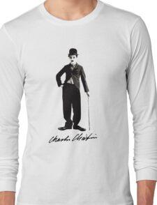 Charlie Chaplin - Autograph Long Sleeve T-Shirt