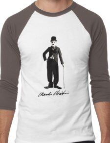 Charlie Chaplin - Autograph Men's Baseball ¾ T-Shirt