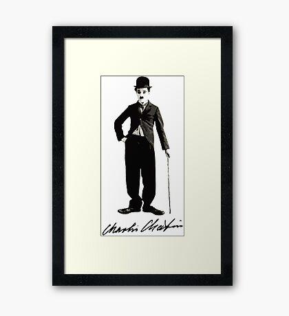 Charlie Chaplin - Autograph Framed Print