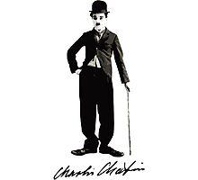 Charlie Chaplin - Autograph Photographic Print