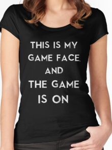 Sherlock This is my game face Women's Fitted Scoop T-Shirt