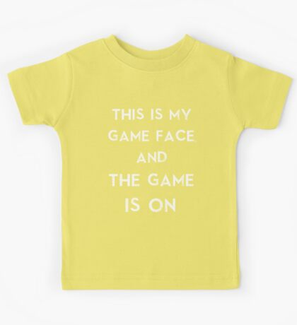 Sherlock This is my game face Kids Tee