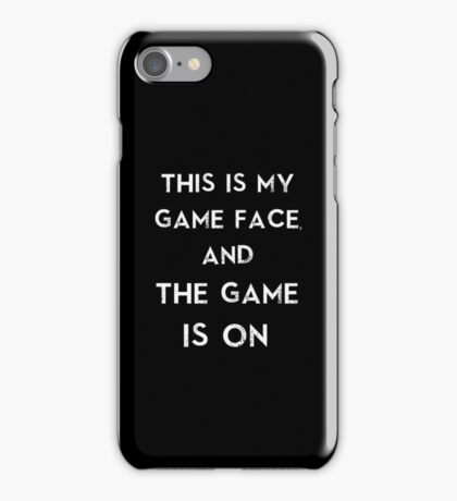 Sherlock This is my game face iPhone Case/Skin
