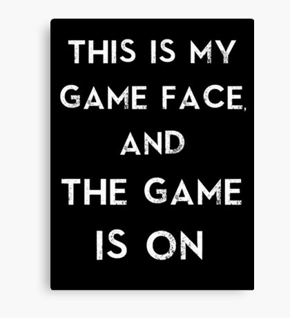 Sherlock This is my game face Canvas Print