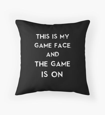 Sherlock This is my game face Throw Pillow