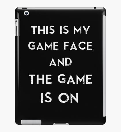 Sherlock This is my game face iPad Case/Skin