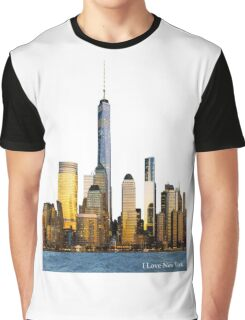 New York City and One World Trade Center Graphic T-Shirt