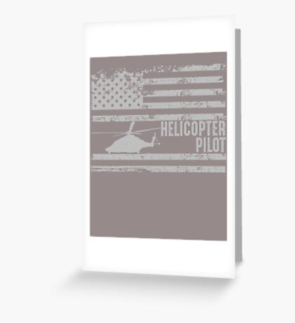 American Helicopter Pilot United States  Greeting Card