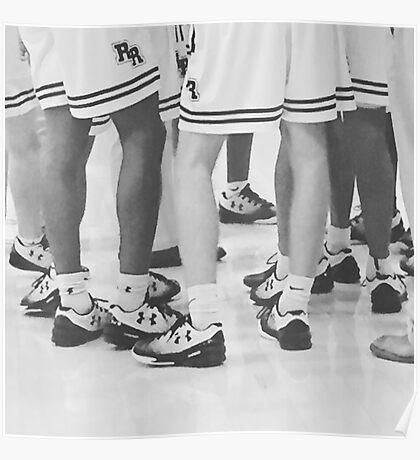 Basketball Huddle Poster