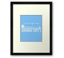 Remember Amity 3 Framed Print