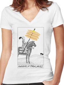 Knight of Pancakes Breakfast Tarot Women's Fitted V-Neck T-Shirt
