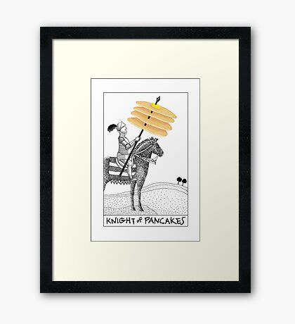 Knight of Pancakes Breakfast Tarot Framed Print