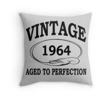 Vintage 1964 Aged To Perfection Throw Pillow