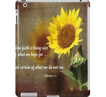 Faithful Sunflower iPad Case/Skin
