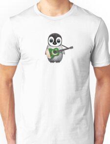 Baby Penguin Playing Pakistani Flag Guitar Unisex T-Shirt