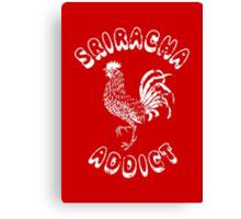 Sriracha Addict Vintage Canvas Print