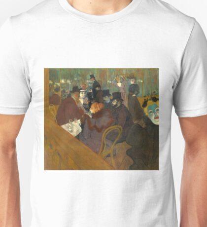 At the Moulin Rouge - Henri de Toulouse-Lautrec - ca. 1892 Unisex T-Shirt