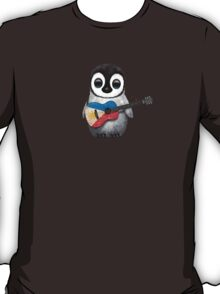 Baby Penguin Playing Filipino Flag Guitar T-Shirt