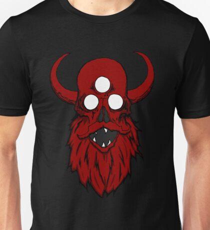 Bearded Horny Skull  Unisex T-Shirt