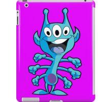 Cute 3-Eyed 6-Armed Blue Alien iPad Case/Skin