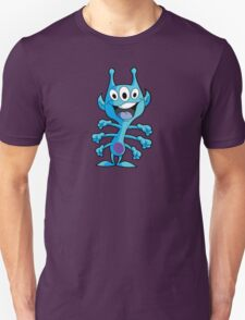 Cute 3-Eyed 6-Armed Blue Alien T-Shirt