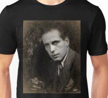 Dibujo a lápiz y tiza de Humphrey Bogart Unisex T-Shirt