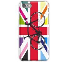 Bike Flag United Kingdom (Multi Coloured) (Big - Highlight) iPhone Case/Skin