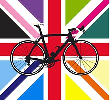 Bike Flag United Kingdom (Multi Coloured) (Big - Highlight) by sher00