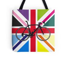 Bike Flag United Kingdom (Multi Coloured) (Big - Highlight) Tote Bag