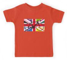 Bike Flag United Kingdom (Multi Coloured) (Big - Highlight) Kids Tee