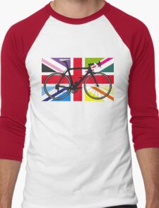 Bike Flag United Kingdom (Multi Coloured) (Big - Highlight) Men's Baseball ¾ T-Shirt