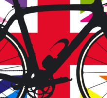 Bike Flag United Kingdom (Multi Coloured) (Big - Highlight) Sticker