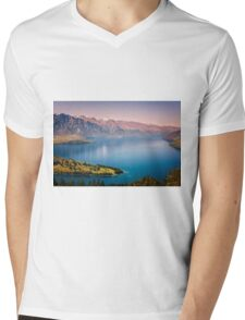 Queenstown New Zealand from Above Mens V-Neck T-Shirt
