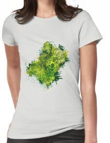 Zen Doodle 4A Green Forrest Womens Fitted T-Shirt